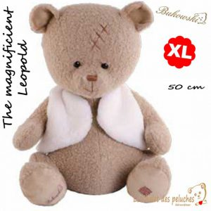 The magnificient Leopold - Taille XL - 50cm - peluche Bukowski
