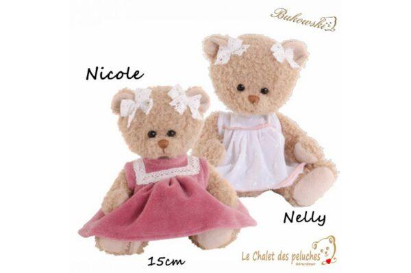Nicole & Nelly - 15cm - Peluche BUKOWSKI